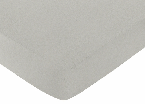 Fitted Crib Sheet for Safari Outback Baby/Toddler Bedding by Sweet Jojo Designs - Gray - Click to enlarge