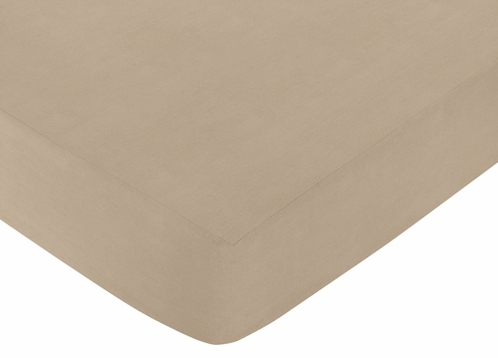 Fitted Crib Sheet for Safari Outback Baby/Toddler Bedding by Sweet Jojo Designs - Taupe - Click to enlarge
