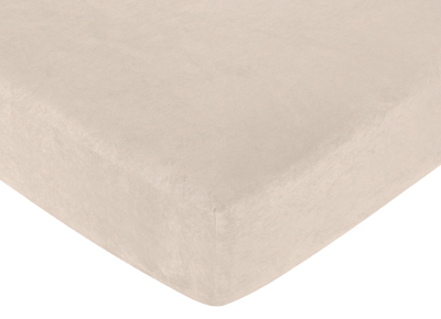 Fitted Crib Sheet for Sea Turtle Baby/Toddler Bedding by Sweet Jojo Designs - Buff Microsuede - Click to enlarge