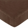 Fitted Crib Sheet for Sea Turtle Baby/Toddler Bedding by Sweet Jojo Designs - Chocolate Brown Microsuede