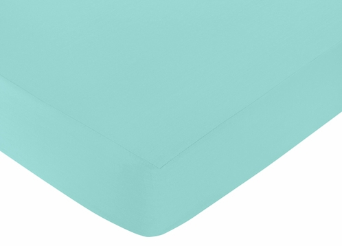 Fitted Crib Sheet for Skylar Baby/Toddler Bedding by Sweet Jojo Designs - Turquoise - Click to enlarge