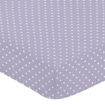 Fitted Crib Sheet for Sloane Baby/Toddler Bedding by Sweet Jojo Designs - Lavender Polka Dot