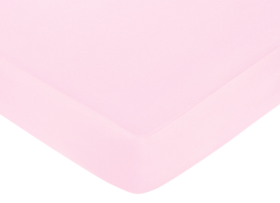 Fitted Crib Sheet for Song Bird Baby/Toddler Bedding by Sweet Jojo Designs - Pink - Click to enlarge