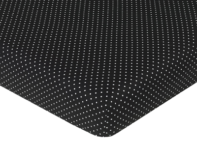 Fitted Crib Sheet for Spirodot Baby/Toddler Bedding by Sweet Jojo Designs - Mini Dot - Click to enlarge