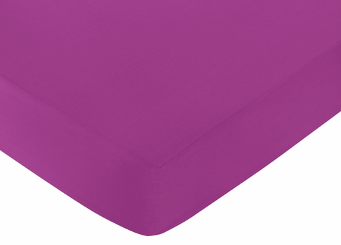 Fitted Crib Sheet for Spring Garden Baby/Toddler Bedding by Sweet Jojo Designs - Purple - Click to enlarge
