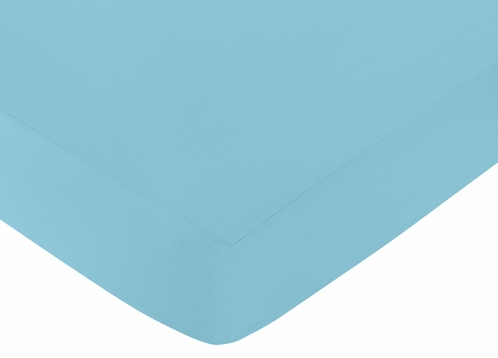 Fitted Crib Sheet for Spring Garden Baby/Toddler Bedding by Sweet Jojo Designs - Turquoise - Click to enlarge