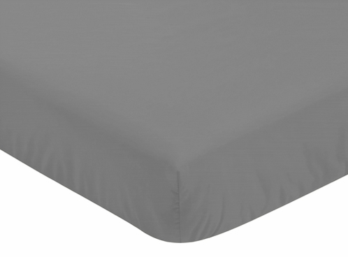 Fitted Crib Sheet for Stripes Baby/Toddler Bedding by Sweet Jojo Designs - Gray - Click to enlarge