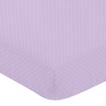 Fitted Crib Sheet for Suzanna Baby/Toddler Bedding by Sweet Jojo Designs - Mini Dot Print