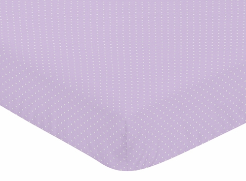 Fitted Crib Sheet for Suzanna Baby/Toddler Bedding by Sweet Jojo Designs - Mini Dot Print - Click to enlarge
