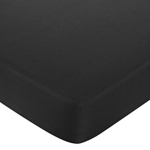 Fitted Crib Sheet for Trellis Baby/Toddler Bedding by Sweet Jojo Designs - Solid Black