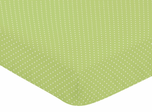 Fitted Crib Sheet For Turquoise And Lime Hooty Owl Baby Toddler
