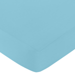Fitted Crib Sheet for Turquoise and White Chevron Baby/Toddler Bedding by Sweet Jojo Designs - Turquoise