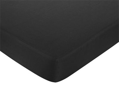Fitted Crib Sheet for White and Black Hotel Baby/Toddler Bedding by Sweet Jojo Designs - Black - Click to enlarge
