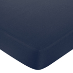 Fitted Crib Sheet for White and Navy Hotel Baby/Toddler Bedding by Sweet Jojo Designs - Navy