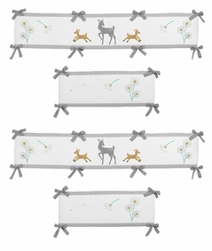 Forest Deer and Dandelion Baby Crib Bumper Pad by Sweet Jojo Designs