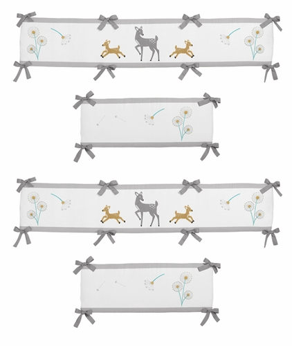 Forest Deer and Dandelion Baby Crib Bumper Pad by Sweet Jojo Designs - Click to enlarge