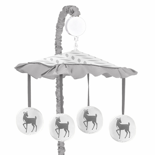 Musical Baby Crib Mobile for Forest Deer and Dandelion Collection by Sweet Jojo Designs - Click to enlarge