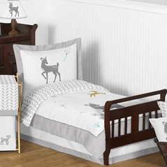 Forest Deer and Dandelion Toddler Bedding - 5pc Set by Sweet Jojo Designs