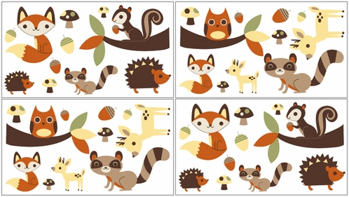 Forest Friends L And Stick Wall Decal Stickers Art Nursery Decor By Sweet Jojo Designs