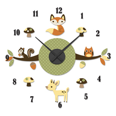 Forest Friends DIY Clock and Decal Set