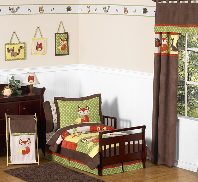 Woodland Forest Animals Toddler Bedding   5pc Boy Bedding Set by Sweet Jojo  Designs. Forest Toddler Bedding Sets for Boys and Girls by JoJo Designs