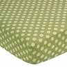 Forest Friends Fitted Crib Sheet for Baby/Toddler Bedding Sets - Tonal Green Dots