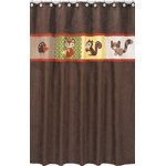 Forest Friends Kids Bathroom Fabric Bath Shower Curtain