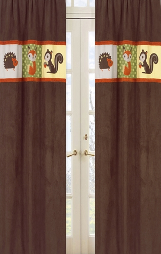 Forest Friends Window Treatment Panels - Set of 2 - Click to enlarge