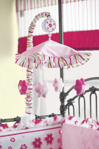 Forever Blossoms Musical Baby Crib Mobile - Click to enlarge