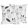 Fox Print Decorative Accent Throw Pillows for Black and White Fox Collection - Set of 2