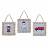 Frankie's Fire Truck Wall Hanging Art Decor 3 Piece Set