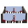 Frankie's Firetruck Baby Crib Side Rail Guard Covers by Sweet Jojo Designs - Set of 2