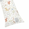 Full Length Double Zippered Body Pillow Case Cover for Woodland Animal Toile Bedding Collection by Sweet Jojo Designs
