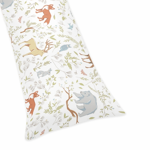 Full Length Double Zippered Body Pillow Case Cover for Woodland Animal Toile Bedding Collection ...