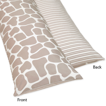 Full Length Double Zippered Body Pillow Cover for Giraffe Bedding Set by Sweet Jojo Designs only ...