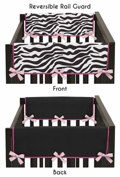Funky Zebra Baby Crib Side Rail Guard Covers by Sweet Jojo Designs - Set of 2