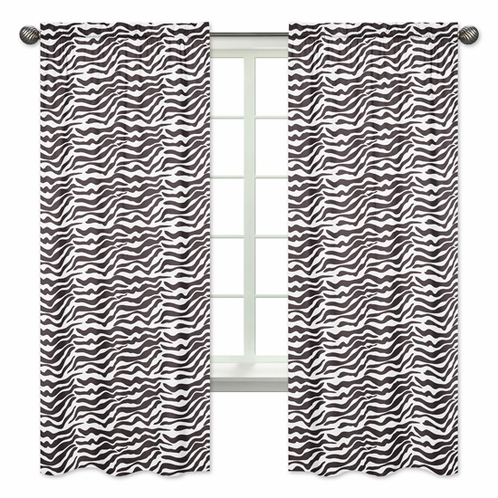 Funky Zebra Collection Window Treatment Panels by Sweet Jojo Designs - Set of 2 - Click to enlarge