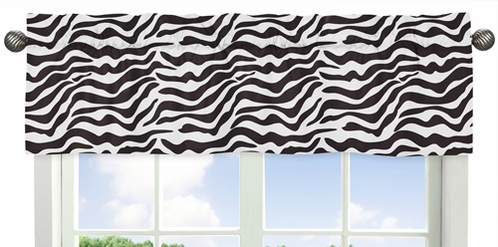 Funky Zebra Collection Window Valance by Sweet Jojo Designs - Click to enlarge