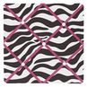 Funky Zebra Fabric Memory/Memo Photo Bulletin Board