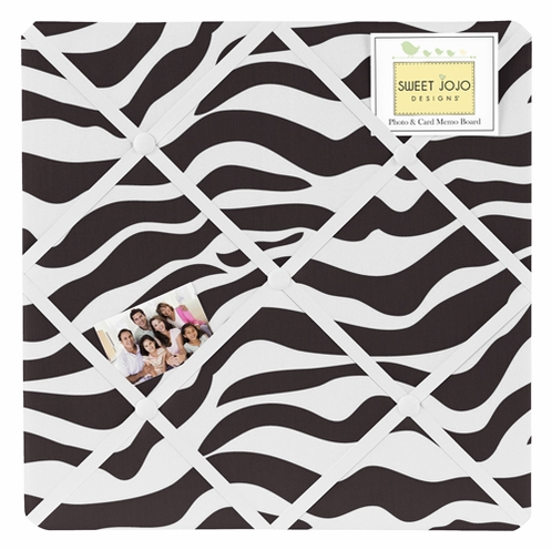 Funky Zebra Fabric Memory/Memo Photo Bulletin Board by Sweet Jojo Designs - Click to enlarge