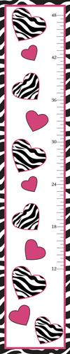 Funky Zebra Kids, Childrens Wall Growth Chart by Sweet Jojo Designs - Click to enlarge