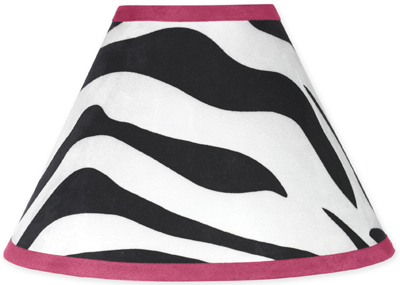 Funky Zebra Lamp Shade by Sweet Jojo Designs - Click to enlarge