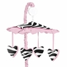 Funky Zebra Musical Baby Girls Crib Mobile by Sweet Jojo Designs