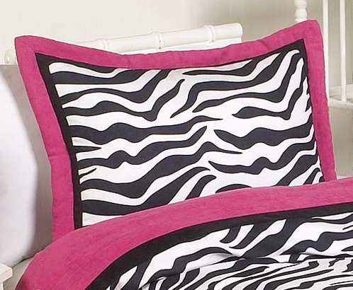 Funky Zebra Pillow Sham - Click to enlarge