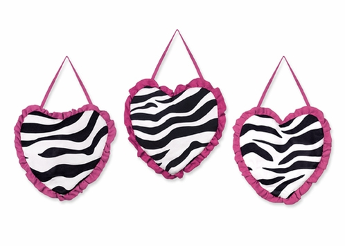 Funky Zebra Wall Hanging Accessories by Sweet Jojo Designs - Click to enlarge
