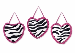 Funky Zebra Wall Hanging Accessories by Sweet Jojo Designs