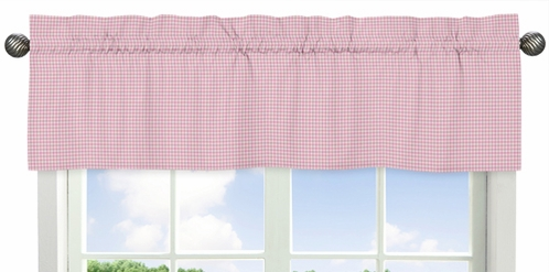 Gingham Window Valance for Pink French Toile Collection by Sweet Jojo Designs - Click to enlarge