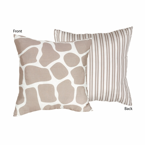 Giraffe Decorative Accent Throw Pillow by Sweet Jojo Designs - Click to enlarge