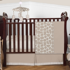 Giraffe Neutral Baby Bedding - 4pc Crib Set by Sweet Jojo Designs