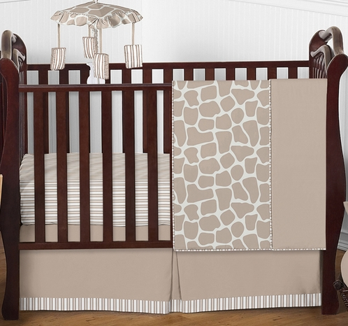 Giraffe Neutral Baby Bedding - 4pc Crib Set by Sweet Jojo Designs - Click to enlarge